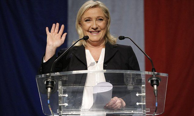 Marine Le Pen LEADS in first round of French presidential voting  #DailyMail