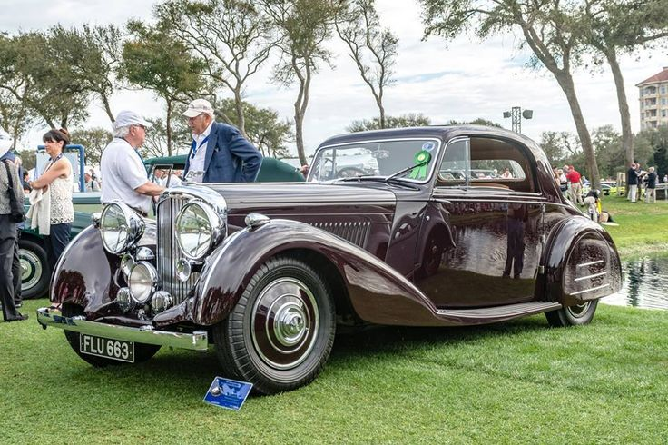 "1939 Bentley 4 1/4 Litre Sports Coupe 'Honeymoon Express' powered by a 4.3-Liter straight-six, 126 horsepower engine with two SU carburetors, a four-speed manual gearbox with overdrive, on a 126 inch wheelbase chassis. It is one of the most famous ""Derby Bentleys"" as it was built for the chairman of the coachbuilder Park Ward and was shown at the Earls Court Motor Show in London in 1938."
