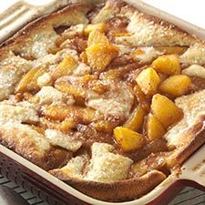 Gluten-Free Peach Cobbler made with baking mix