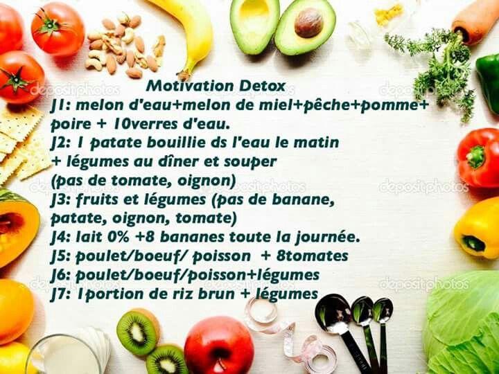 menu détox fruits et légumes