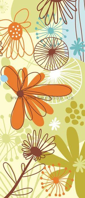 Fototapeta - Květiny (Malované)