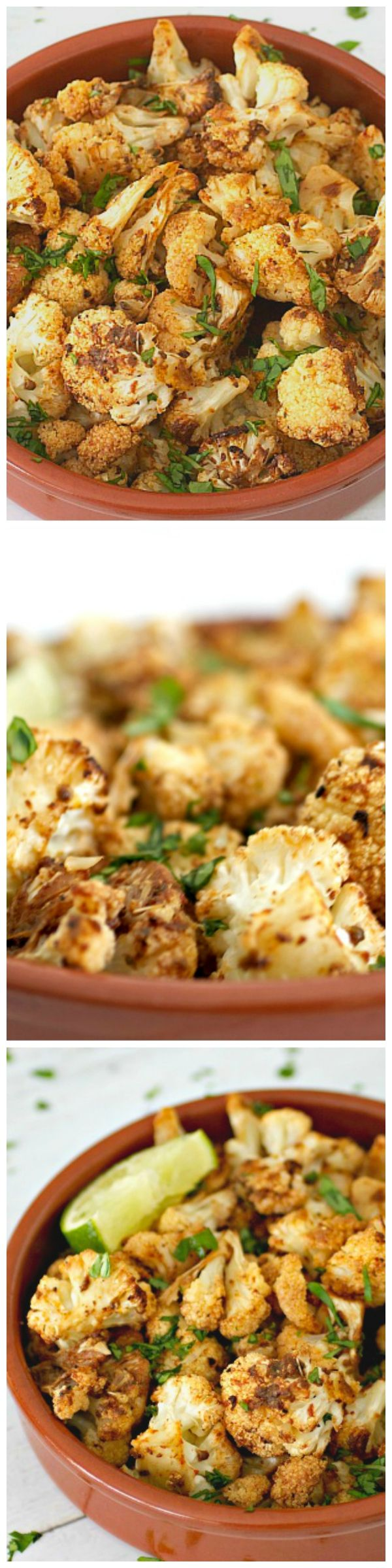 Chipotle Roasted Cauliflower - Transform drab, bland cauliflower into a flavorful, spicy, and healthy side dish.
