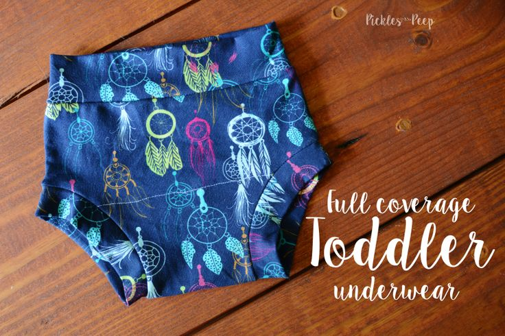 Sewing: Full Coverage Toddler Underwear | Pickles and Peep