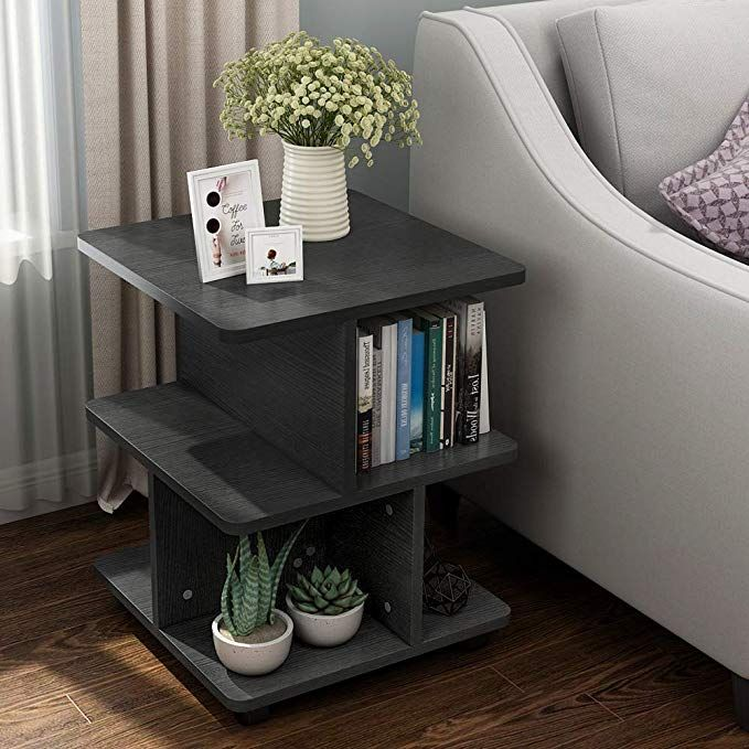 Tribesigns Modern Side End Table For Living Room 3 Tier Bedside Table Night Stand With Wheels Bedside Table Storage End Tables With Storage Living Room Table