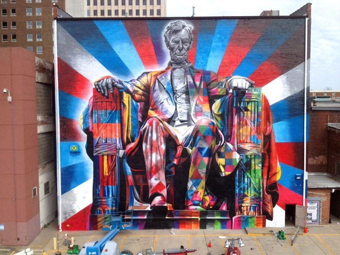 Abraham Lincoln Mural by Kobra