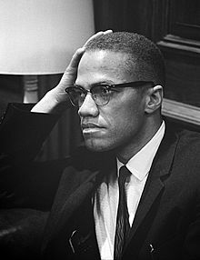 "MALCOLM X - ""You can't separate peace from freedom because no one can be at peace unless he has his freedom."""