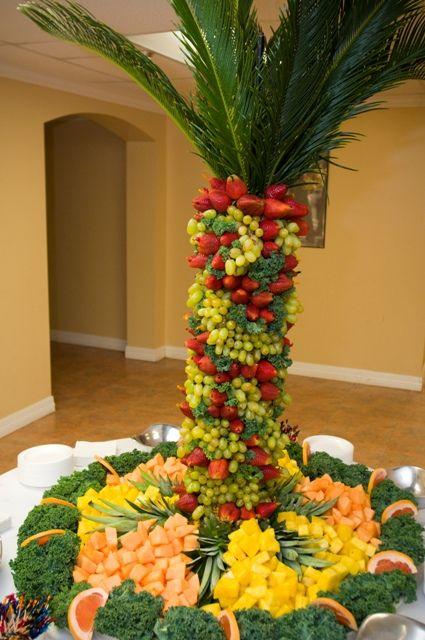 fruit scupltures | Food Art & Chocolate Fountains Fruit Sculpture for Fallon & Kriston ...
