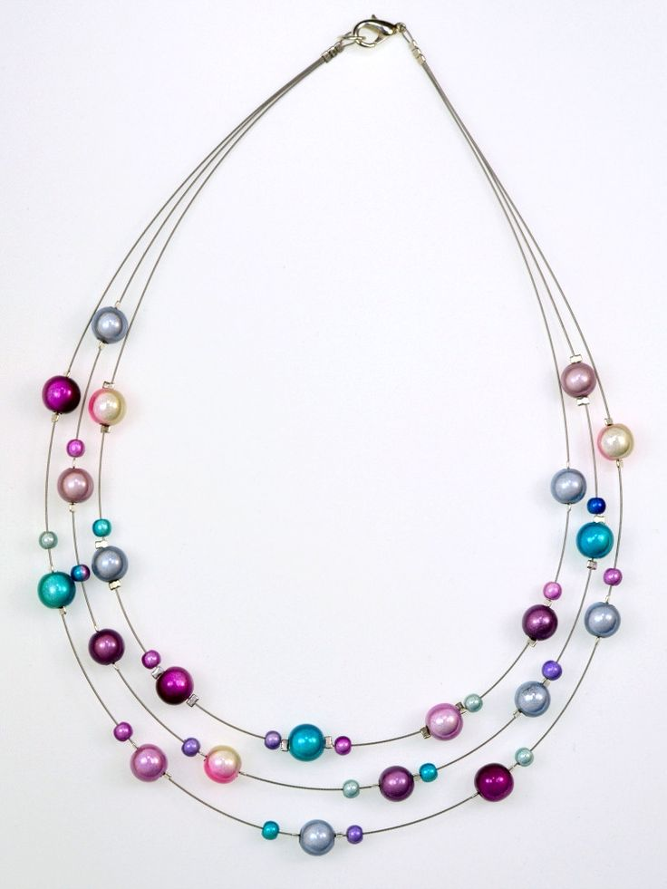 bead necklaces strands and beads on pinterest