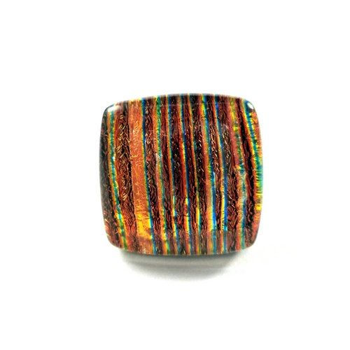 RG21  Exclusive fused dichroic glass adjustable ring by VerreArts