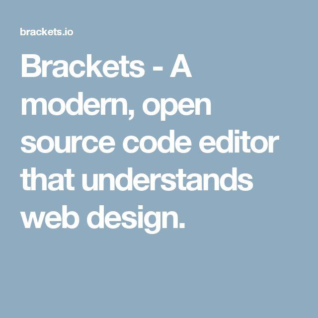 Brackets - A modern, open source code editor that understands web design.