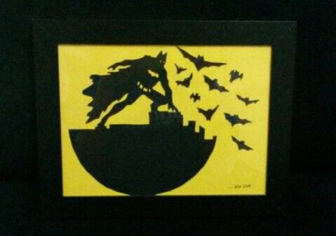 batman papercut with imagination of Tama's Ka'nya