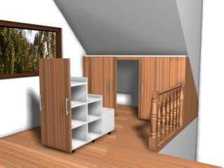 Attic storage. Another cool idea for eve storage.