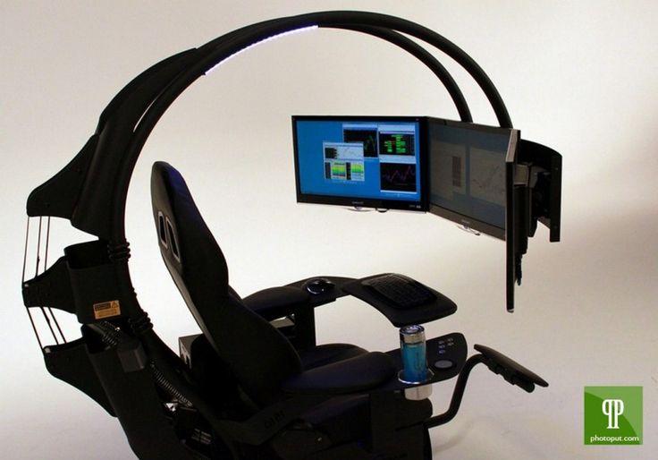 86 best images about computer workstation on pinterest wall mount rigs and gaming setup. Black Bedroom Furniture Sets. Home Design Ideas