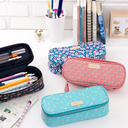 Ardium Colorful pattern block pencil case pouch by Ardium. The Colorful pattern block pencil case is a beautiful and well made zipper pencil case.