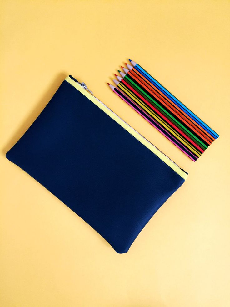 Faux Leather Navy Pencil Case by FantasticCraftyFox on Etsy https://www.etsy.com/uk/listing/450604262/faux-leather-navy-pencil-case