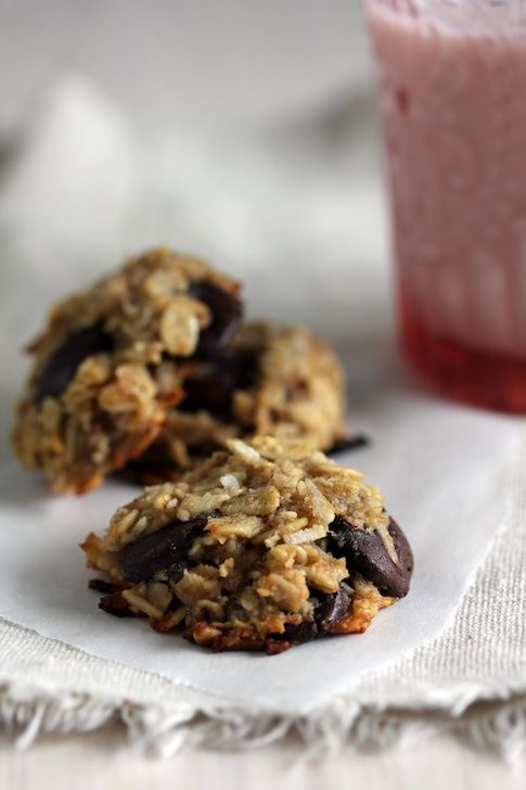 Oatmeal Banana Chip Cookies (gluten free). There's coconut in these!
