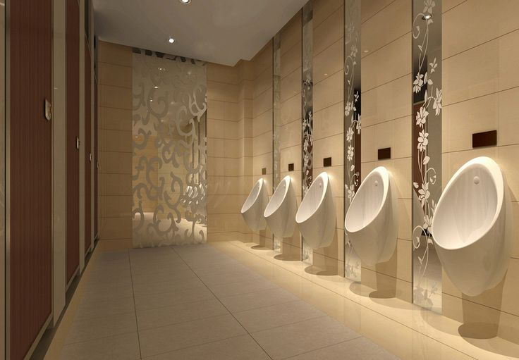 Agreeable restroom design mall public male toilet interior for Male bathroom decor