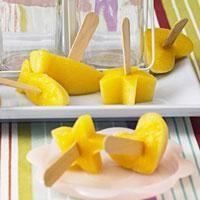 Mango Eis am Stiel