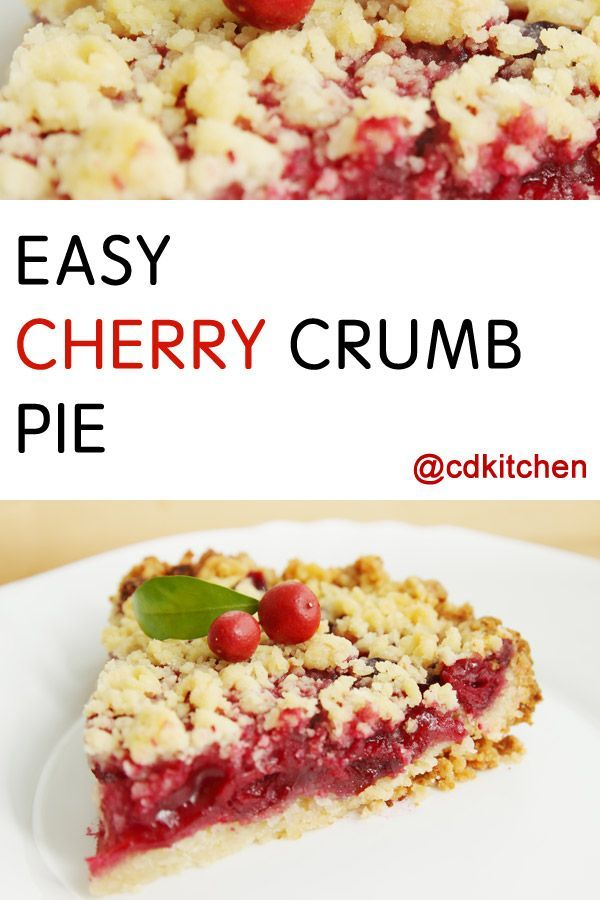 Made with pie crust, cornstarch, water, cherry pie filling, quick cook oats, flour, brown sugar, butter | CDKitchen.com