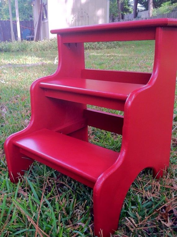 Bedside Step Stools For Adults: Bed Steps Red Kitchen Step Stool Perfect As Pet Stairs Or