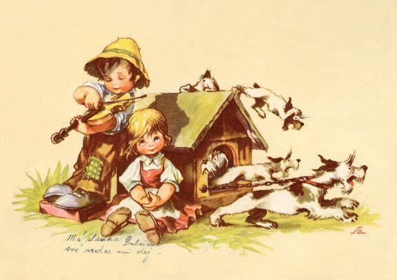 Kartičkové kalendáříky :: Moje sbírka :: Vydané sady kalendáříků :: 2010 pohlednice dětí (Salač)