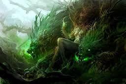 Hamadríades, da mitologia grega, ninfas que nascem e morrem com as árvores e têm missão de protegê-las.