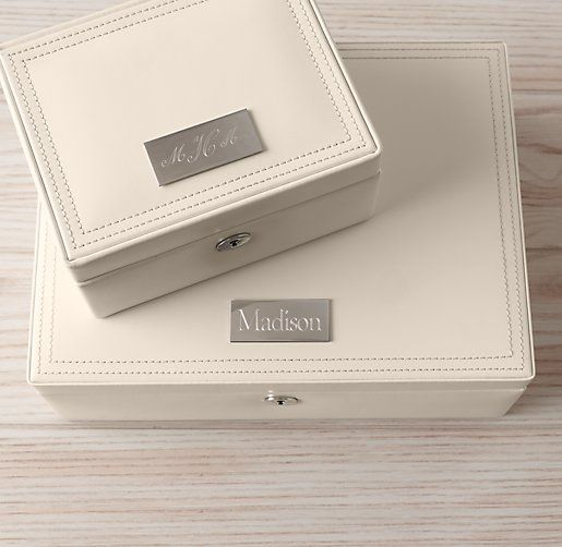 personalized heirloom leather jewelry box jewelry boxes