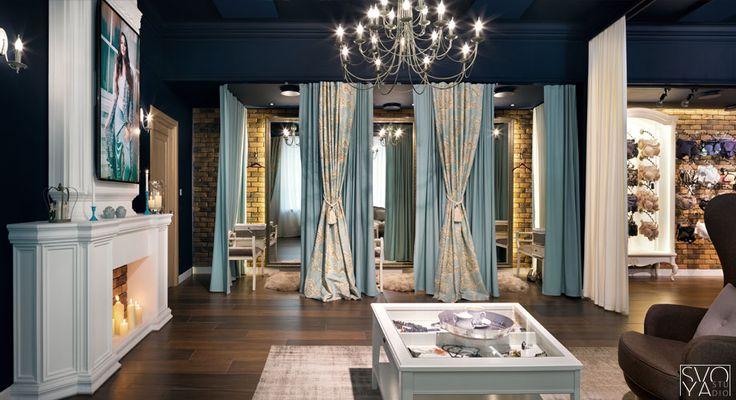 Дизайн интерьера бутика белья BELLEZA
