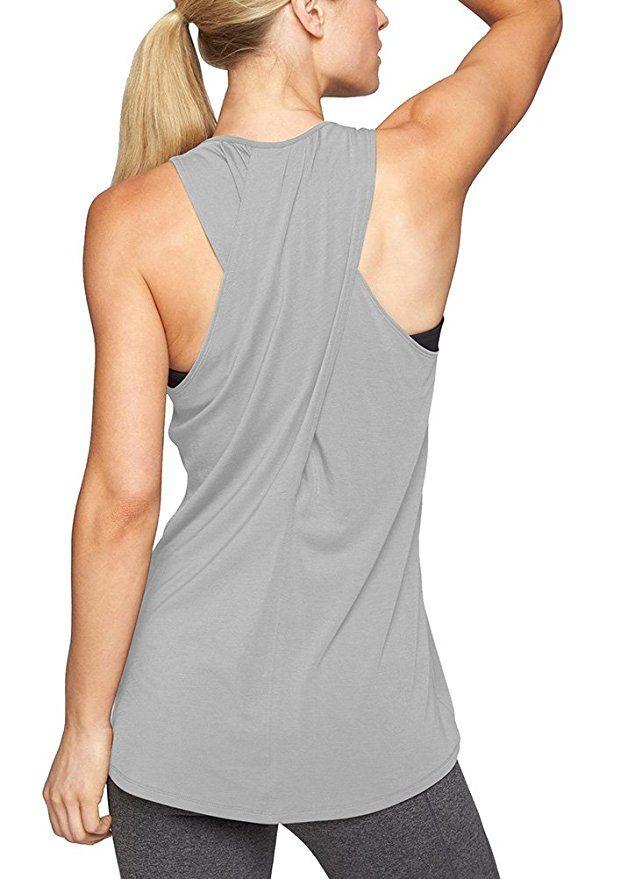 Amazon.com: Mippo Womens Cross Back Yoga Shirt Activewear Workout Clothes  Racerback Tank Top: Clothing | Workout tops for women, Yoga tank tops,  Athletic tank tops
