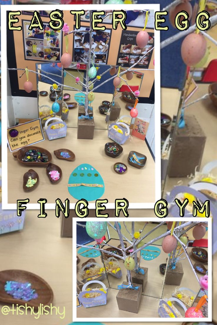 Finger Gym with an Easter theme.