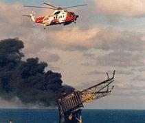 Piper Alpha oil rig, July 1988 - 167 dead