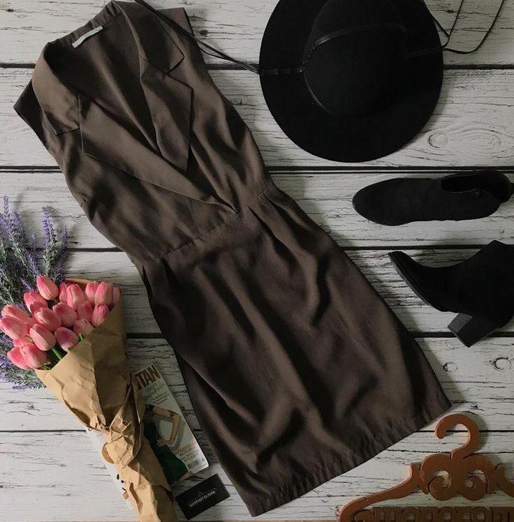 Стильное платье на запах с классическими лацканами и сборками на талии    dr39048 TU за 315 грн.