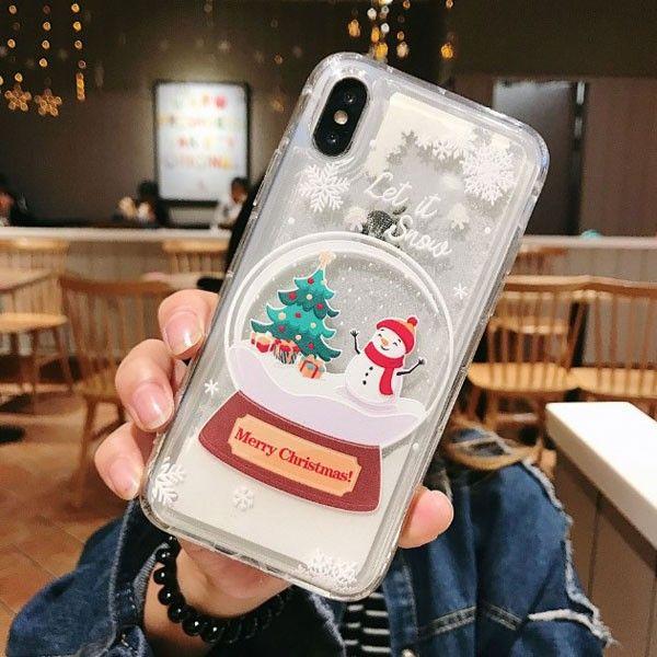 Iphone Xs Max Xr 6s 7 8 Christmas Liquid Quicksand Phone Case Iphone Case Protective Case Phone Cases
