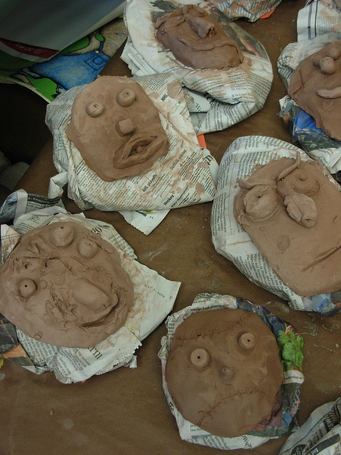 old project: clay masks, with 3D applications.