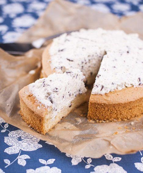Snadný dort vyplněný ricottovou pěnou; Greta Blumajerová