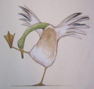 Illustration from 'The Odd Egg' by Emily Gravett.