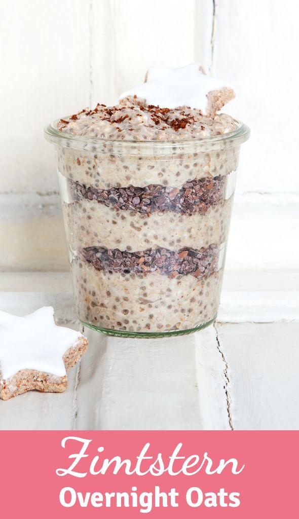 Gesundes Frühstück über Nacht: Probiert jetzt unser Rezept für Zimtstern Overnight Oats!!