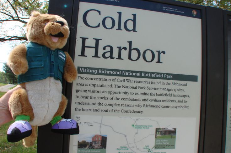 The Battle of Cold Harbor took place in 1864. Ollie visited the site in Richmond National Battlefield Park.