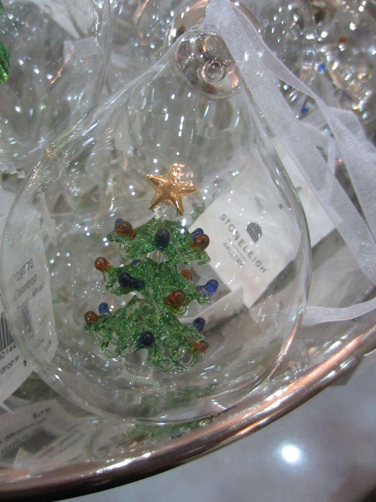 Glass Teardrop decoration #christmas