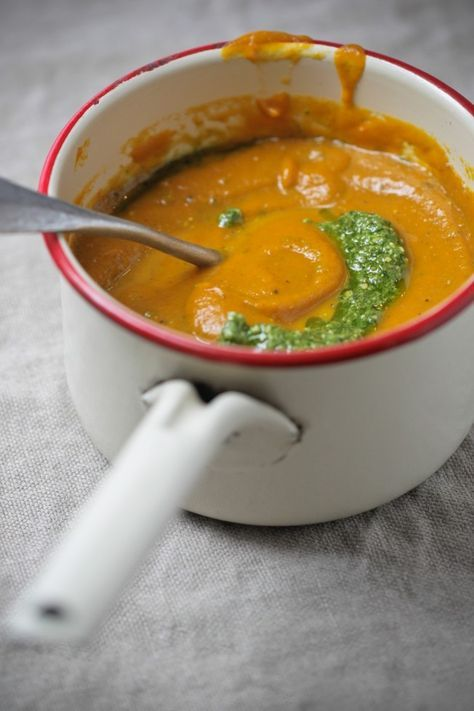 PUMPKIN CARROT SOUP - Pumpkin and carrot are a great source of carotenoid antioxidants that are anti-inflammatory and help to support a healthy immune system. Pumpkin seeds are high in minerals including magnesium, manganese, copper, iron and zinc.