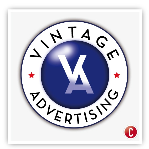 Vintage advertising logo by Christian Earl, via Behance