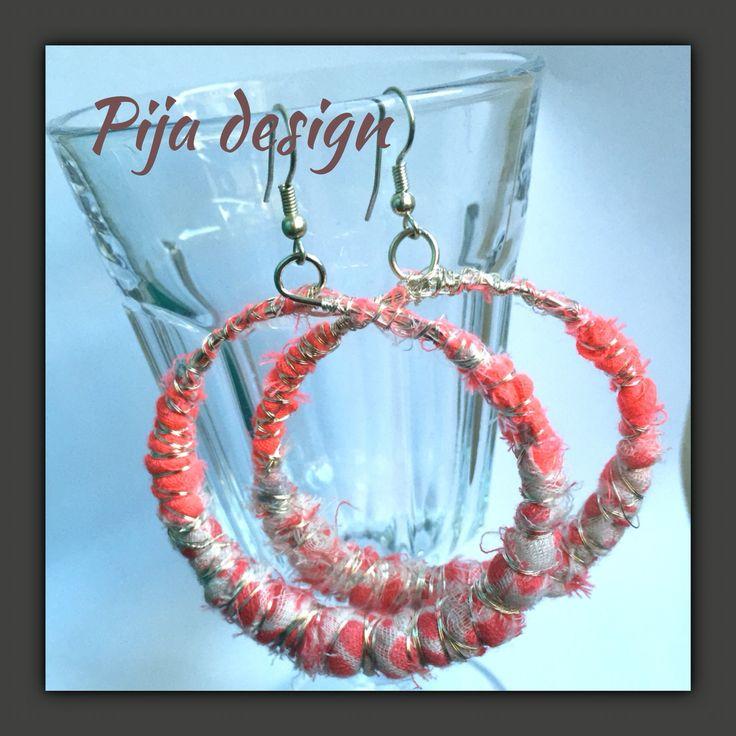 Pijadesign, earrings, bohochic, boho, Gypsy, recycling, återbruk, sjal, hantverk. 150 SEK/par