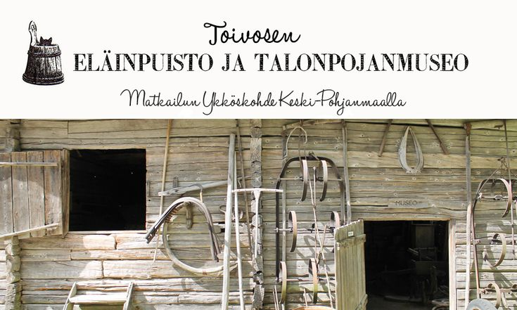 Toivonen, Deer Park, and the peasant museum Kälviä, Central Ostrobothnia province of Western Finland - Keski-Pohjanmaa