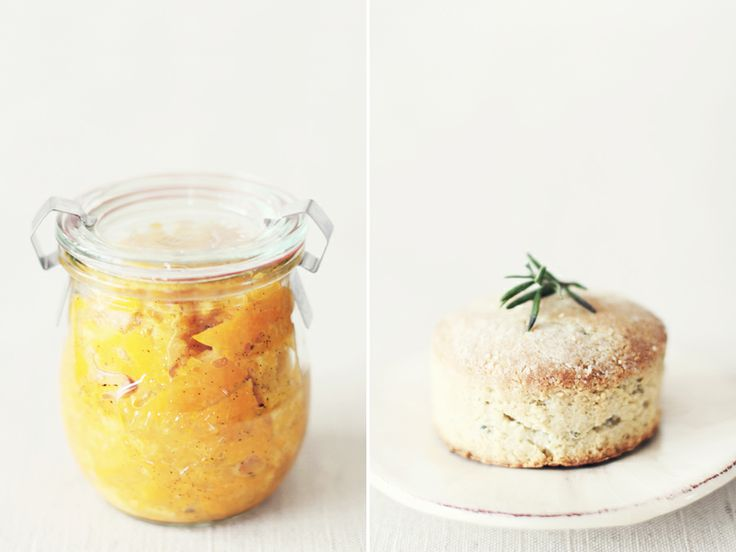 Clementine vanilla bean marmalade with rosemary almond biscuits recipes