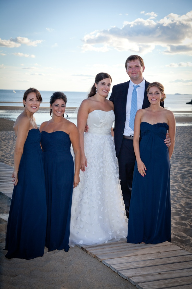 109 best bridesmaids images on pinterest bridesmaids french bridesmaids wore monique lhullier dresses brides dress was by anne barge ombrellifo Image collections