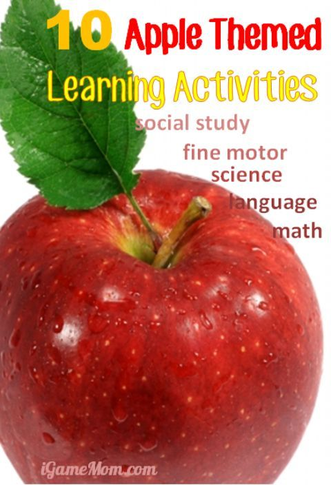 10 apple themed learning activities for kids: science, math, language, fine motor, social studies, ... so many fun ideas.