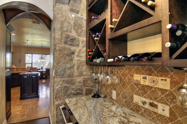Home wine bars parrish custom home wine bar west ridge for Custom wine bar
