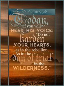 hebrews 3, the root of rebellion