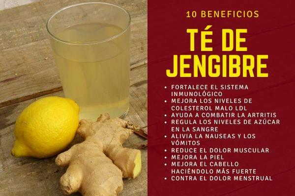 10 Beneficios Del Té De Jengibre Jengibre Propiedades Jengibre Los Niveles De Colesterol