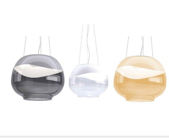 Rippvalgusti Mirage, 17,5W Led,  Kaheosalisest klaasist rippvalgusti.  Klaasi ülemine osa on läbipaistmatu ja alumine läbipaistev.  Võimalik tellida valget, suitsuhalli või merevaigukollast klaasi. Disain rippvalgustid, Elutoa valgustid, Köögi valgustid, Rippvalgustid, Koduvalgustid, Kodu rippvalgustid, Disainvalgustid. Bränd: Vistosi